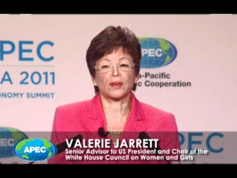 Senior Advisor to US President, Valerie Jarrett, opens the APEC Women and the Economy Summit