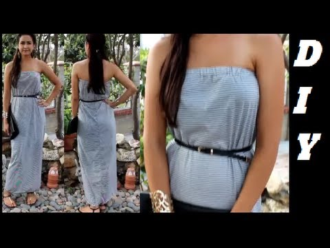 How to make Strapless Maxi Dress DIY DamaV425 - YouTube