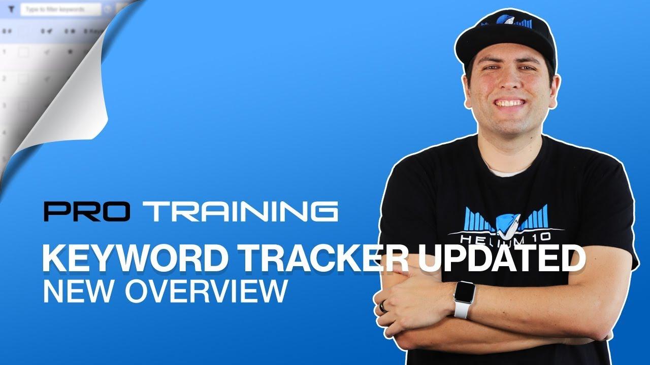 Overview of Keyword Tracker -  Amazon Competitor Analysis | Helium 10 Keyword Tracker