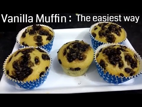 Fluffy And Moist Vanilla Choco-chip Muffin Recipe | Kids Favorite Recipe #Christmas Special