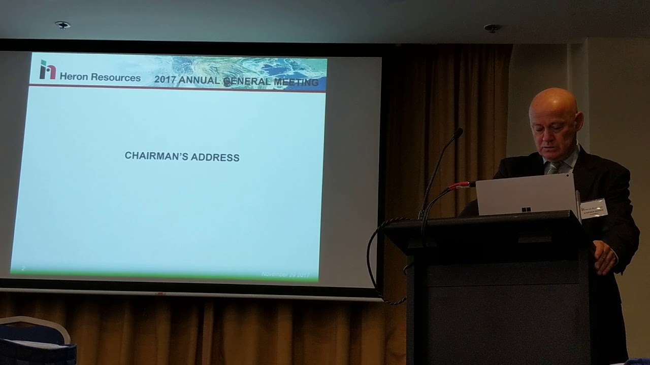 Annual General Meeting - Chairman's Address, November 2017