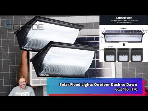 Solar Flood Lights Outdoor Dusk to Dawn