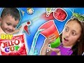 DIY JELLO CUPS! Edible Glasses Kids Recipe! + Cherry Pit Fruit Launcher! FUNnel Family Random Vlogs