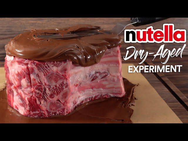 I DRY AGED Steaks in NUTELLA and this happened!