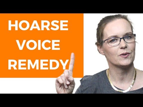 Hoarse Voice Remedy For Singers And Voice Users