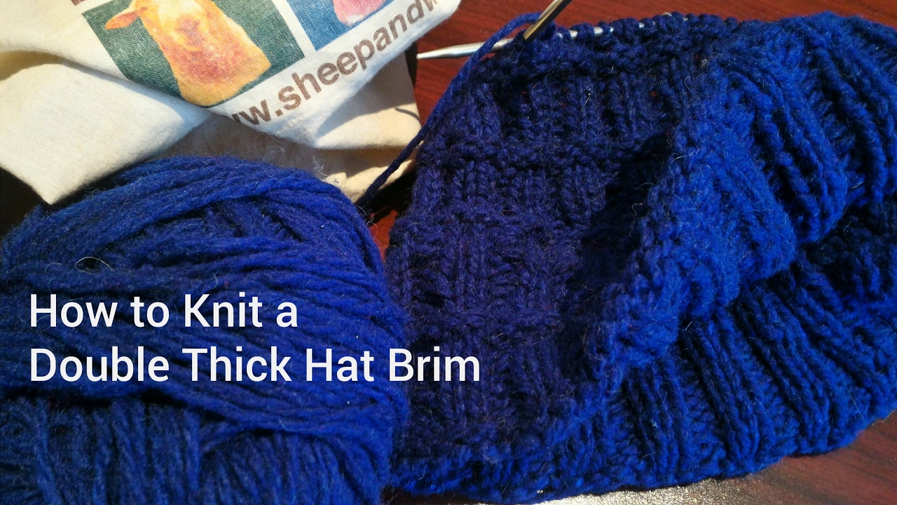 Double Thick Hat Brim Knitting Tutorial - How to Knit a Double Thick ...