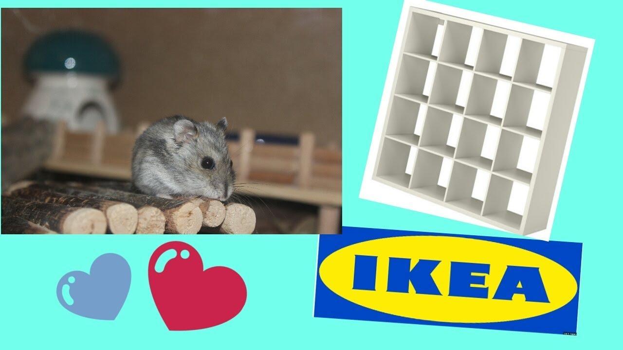hamstergehege aus ikea kallax regal umbau youtube. Black Bedroom Furniture Sets. Home Design Ideas