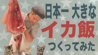 【大食い】超巨大『イカ飯』 総重量6kg 【日本一?世界一?】