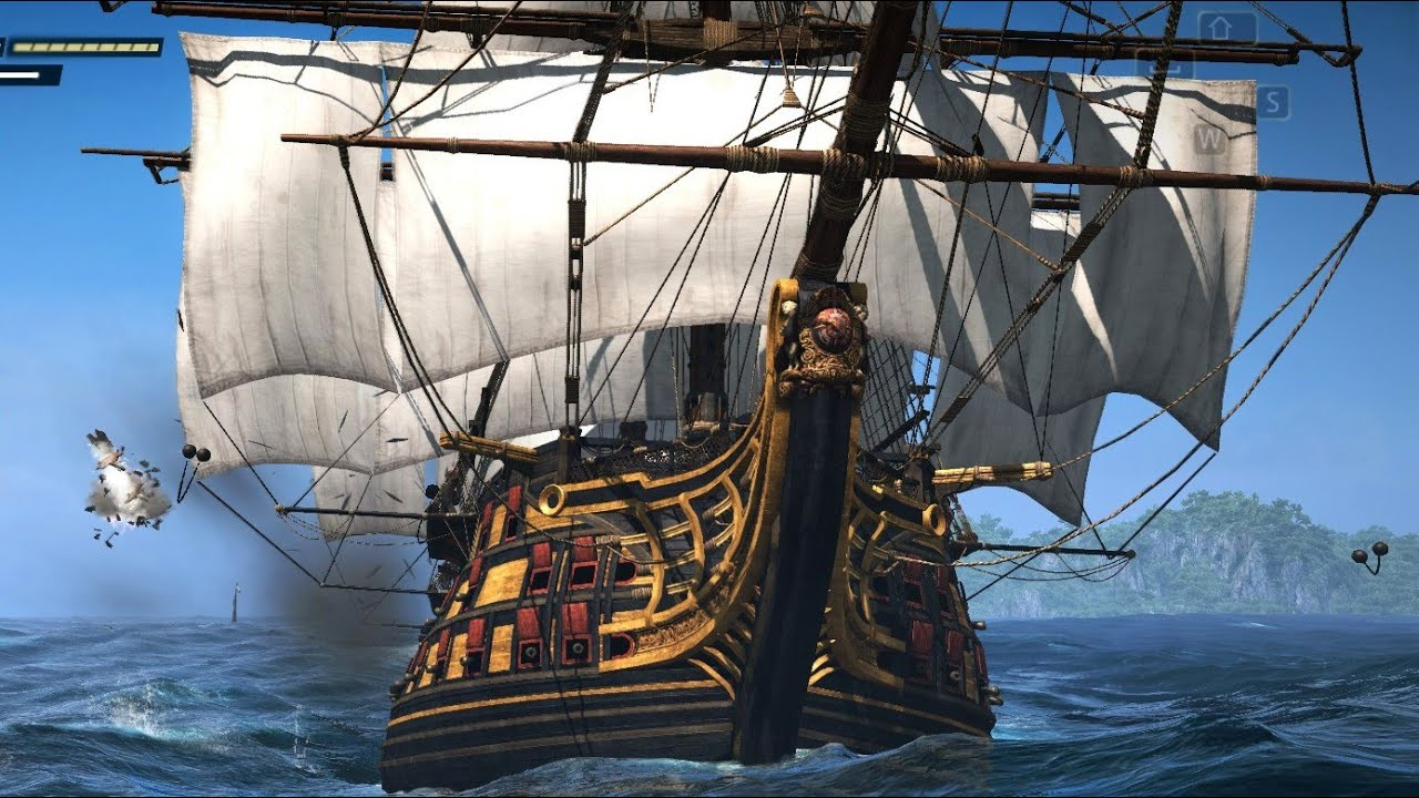 Assassin's Creed 4 Black Flag Ship Battle & Combat with the Pirate King -  YouTube