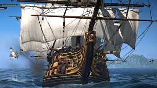 Assassin's Creed 4 Black Flag Ship Battle & Combat with the Pirate King
