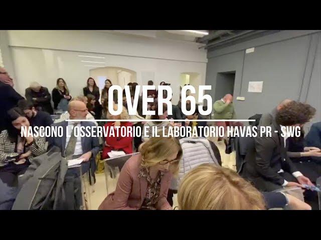 OVER 65: nascono l'Osservatorio e il Laboratorio Havas PR - SWG