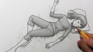 Drawing Time Lapse: Sleeping Pose
