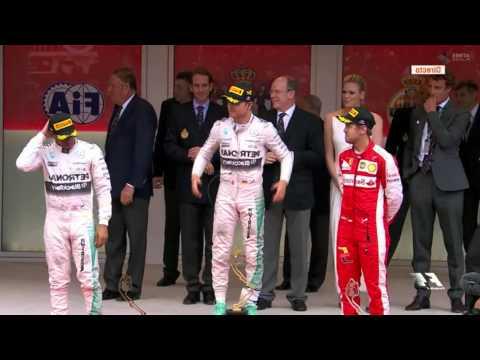 GP Monaco 2015 Podium F1 poster