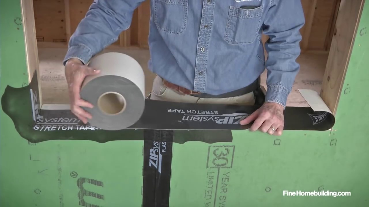 How to Flash a Window Sill using ZIP System stretch tape - YouTube