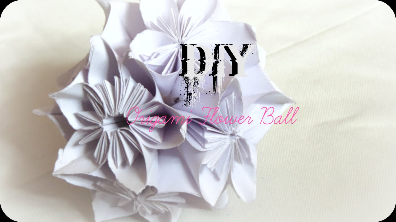 Diy how to make origami flower ball easy paper craft wall diy how to make origami flower ball easy paper craft wall hanging youtube dhlflorist Image collections