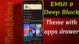 EMUI 9 deep Black theme with apps drawer || Honor Play best dark theme || Honor 10 best dark theme