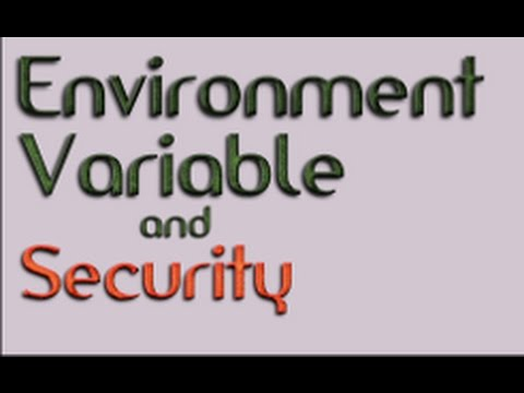 Environment Variable and Security Lecture