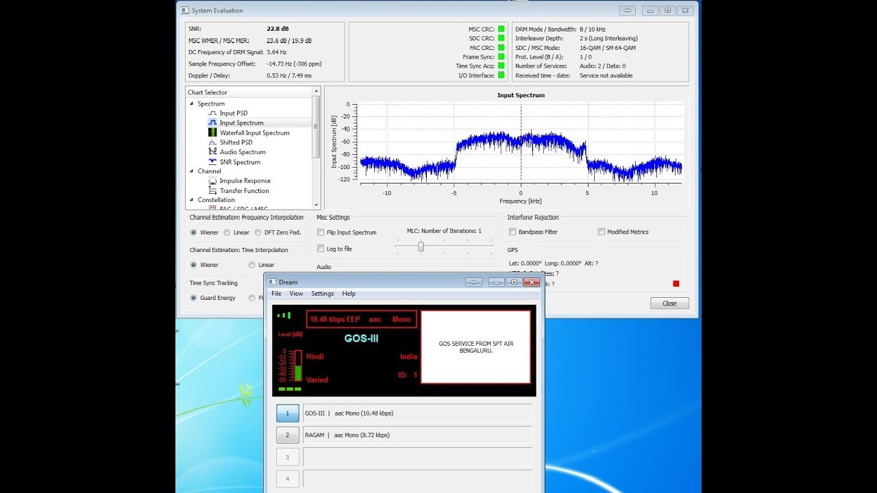 How to receive and decode DRM radio signal only with PC