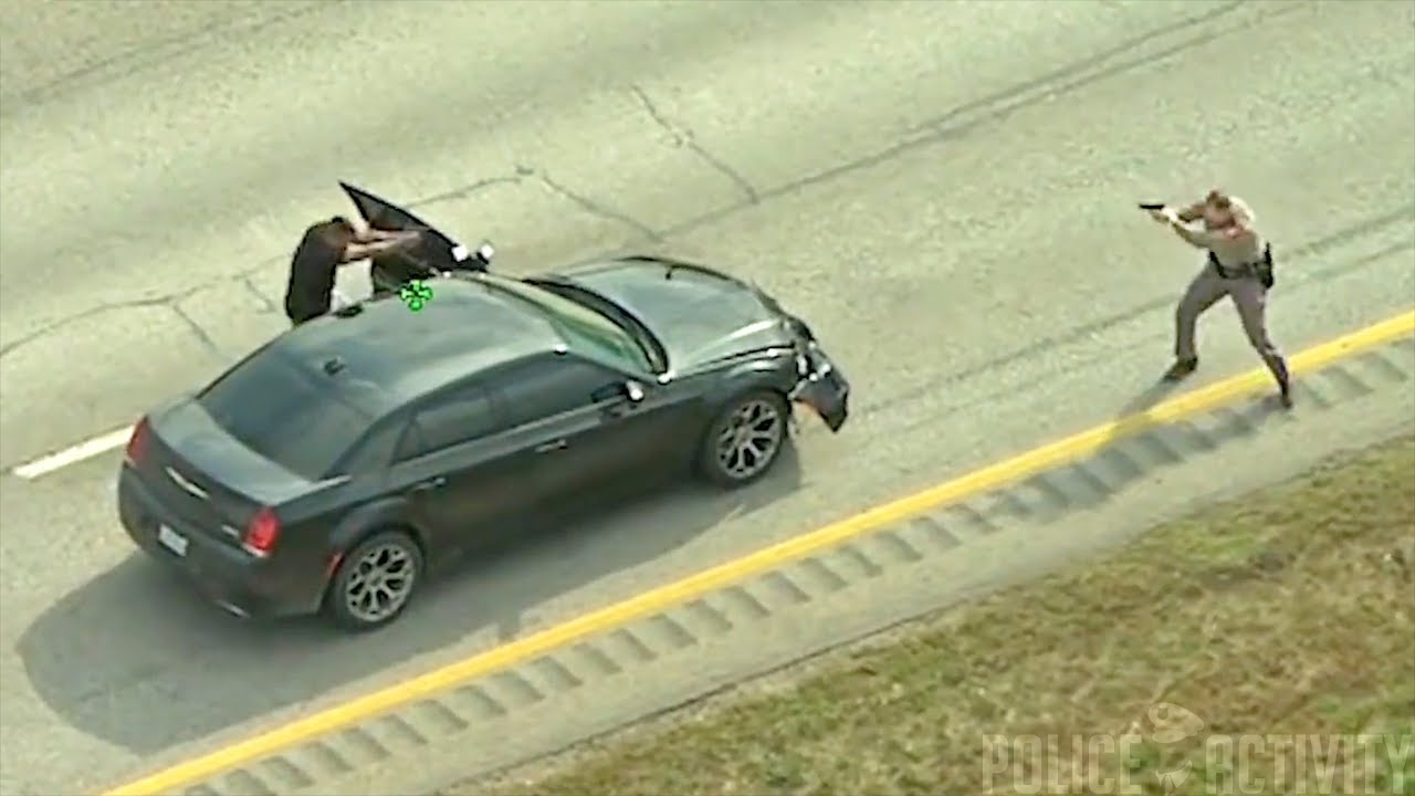 PD chopper catches high-speed chase and shootout in TEXAS
