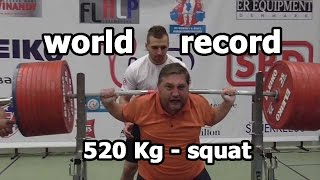 World record Powerlifting - squat - 520 kg