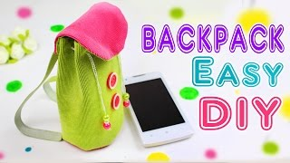 DIY BACKPACK PHONE CASE EASY TUTORIAL