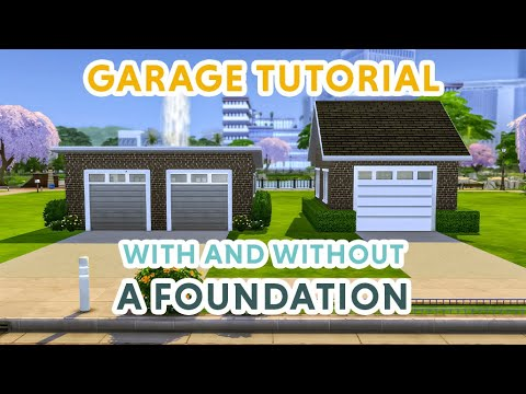 How To Build A Garage In The Sims 4 With And Without A Foundation 2 Ways The Sims 4 Tutorial Youtube