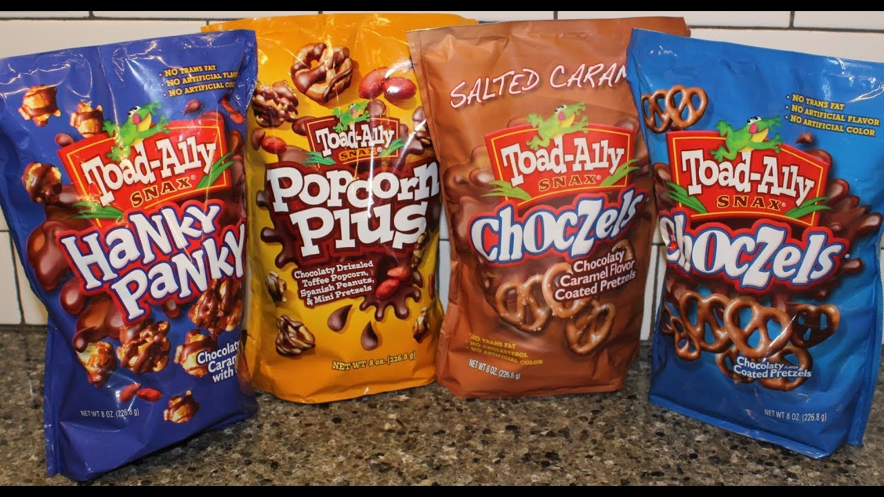 Toad Ally Snax Hanky Panky Popcorn Plus Salted Caramel Choczels Review