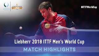 Dimitrij Ovtcharov vs Timo Boll I 2018 ITTF Men's World Cup Highlights (1/2)