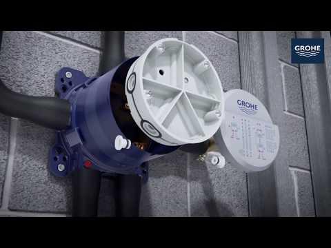 Установка смесителя скрытого монтажа GROHE Rapido SmartBox & SmartControl