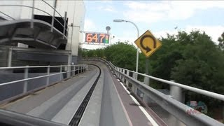 Full Test Track ride POV in Epcot Future World at Walt Disney World