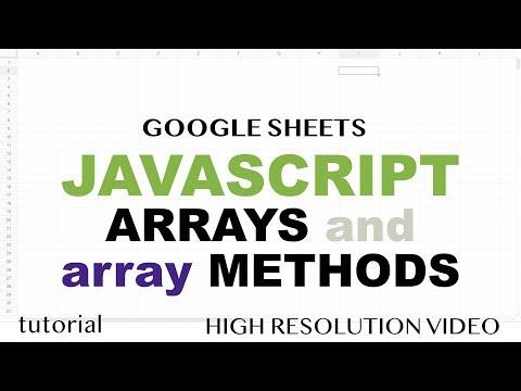 javascript-arrays-&-methods---part-1---google-sheets-apps-script-tutorial