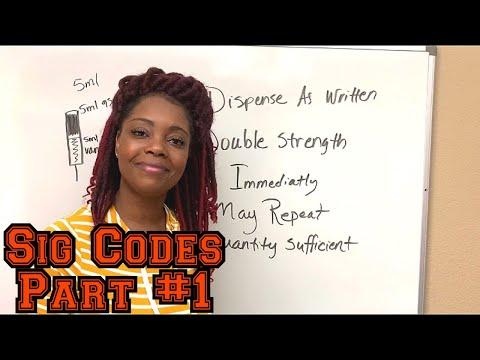 Pharmacy Technician Sig Codes | Part 1 | Pharmacy Technicians