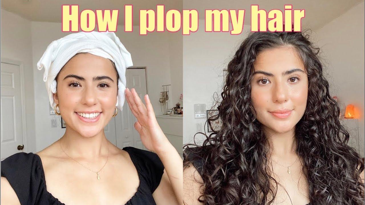 HOW I PLOP MY HAIR | 2b/2c