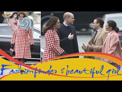 Kate Middleton wears elegant houndstooth coat in Stockholm - Hot Girl
