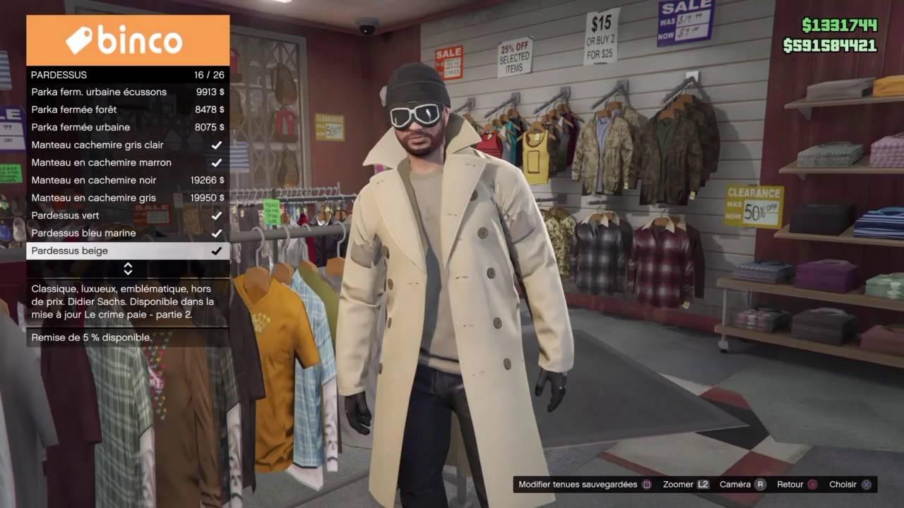 Glitch GTA Online manteau dechirer YouTube