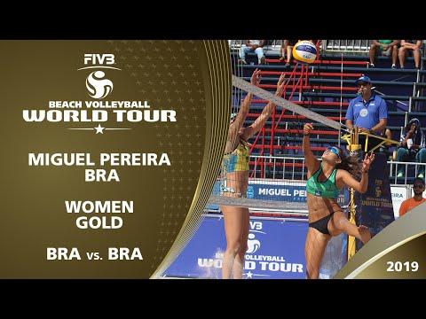 Women's Gold Medal: BRA vs. BRA | 1* Miguel Pereira (BRA) - 2019 FIVB Beach Volleyball World Tour
