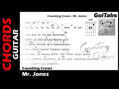 Counting Crows - Mr. Jones ( Lyrics and GuiTar Chords ) 🎸