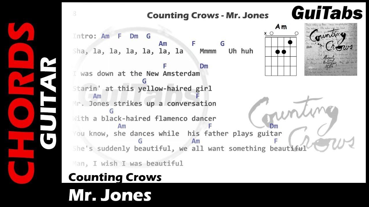 Counting Crows Mr Jones Lyrics And Guitar Chords  F0 9f 8e B8