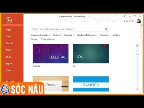 Bài 01: Tạo và lưu một trình chiếu điện tử bằng PowerPoint 2013