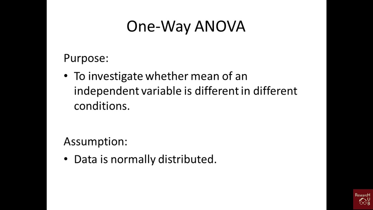 One-Way ANOVA in R