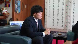 平良海馬選手(埼玉西武ライオンズ)が入団報告に市長表敬
