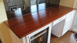 How To Build A Wooden Counter Top Part 3 Finished And Installed By Jon Peters