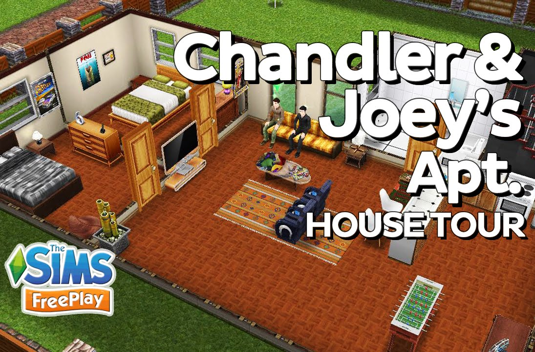 the sims freeplay joey and chandler u0027s apartment f r i e n d s