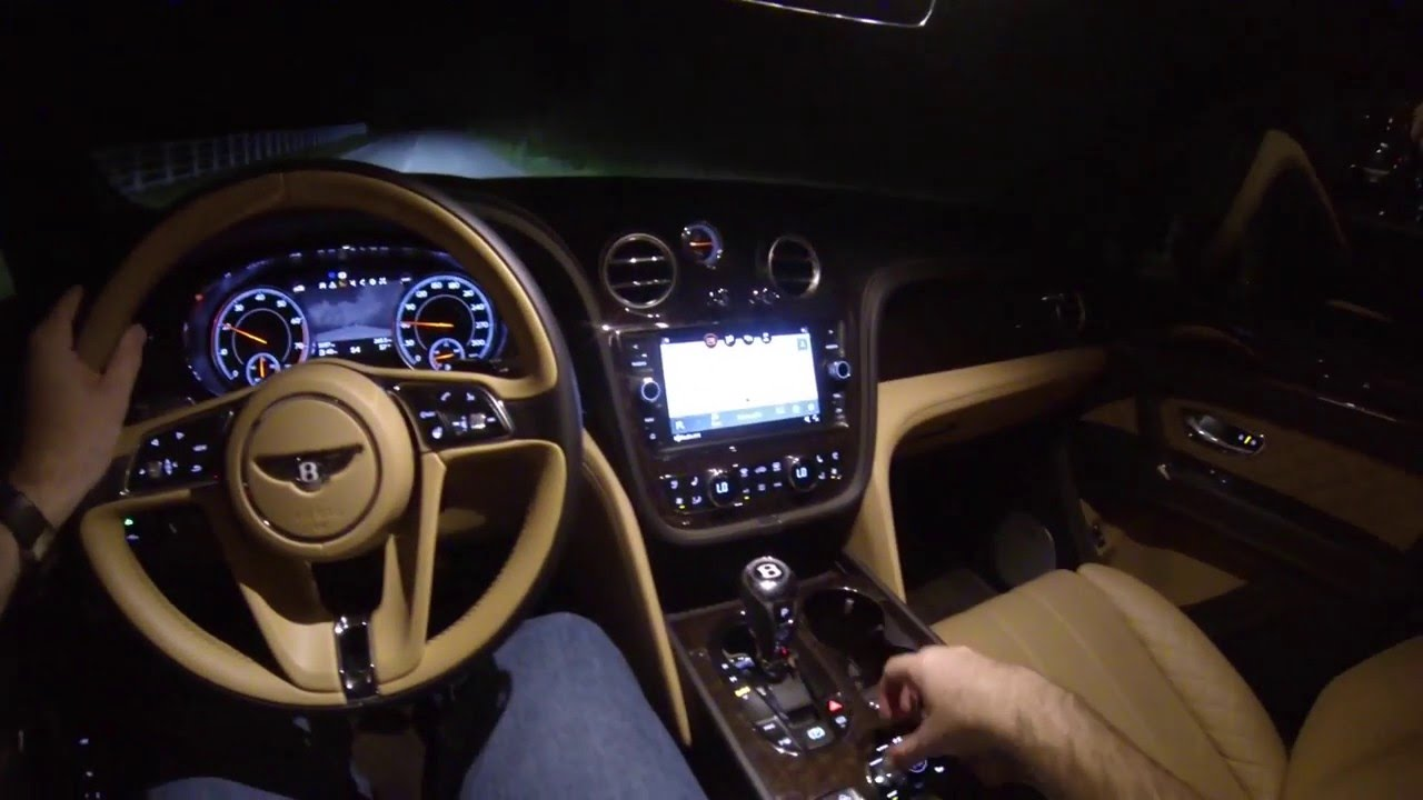 2017 Bentley Bentayga Night Drive Pov Test Drive Youtube