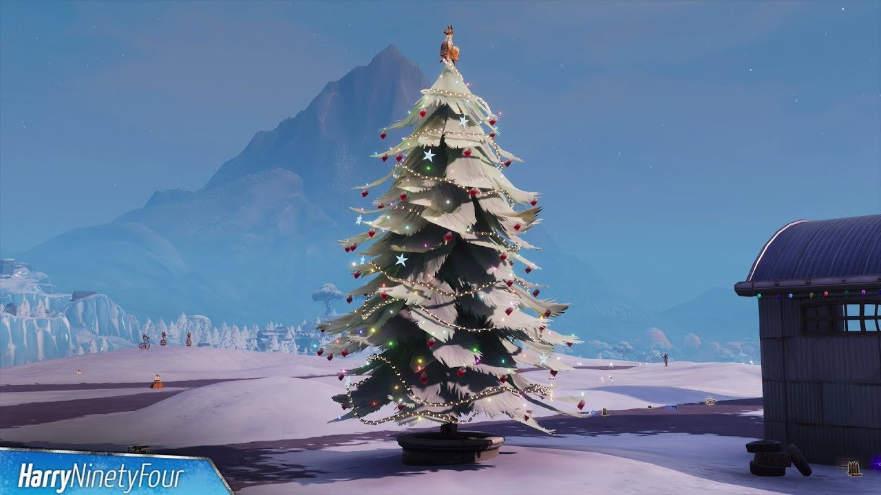 Fortnite Battle Royale - All Holiday Tree Locations Guide (14 Days of Fortnite Challenge) - YouTube