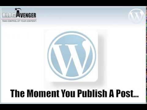How to Copyright A Blog - Blog Copyright Protection with BlogAvenger.com Wordpress Plugin