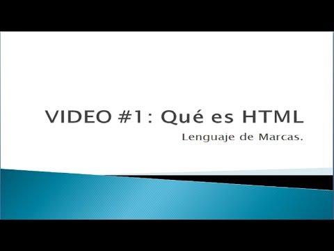 Qué Es HTML - Lenguaje De Marcado