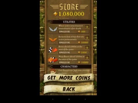 How to HACK TEMPLE RUN 1 Game and buy Unlimited Free Coins