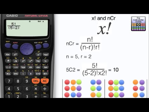 How To Use NCr On A Calculator - The Factorial Function X! Fx-83GT Fx-85GT Fx-300ES Casio Ncr