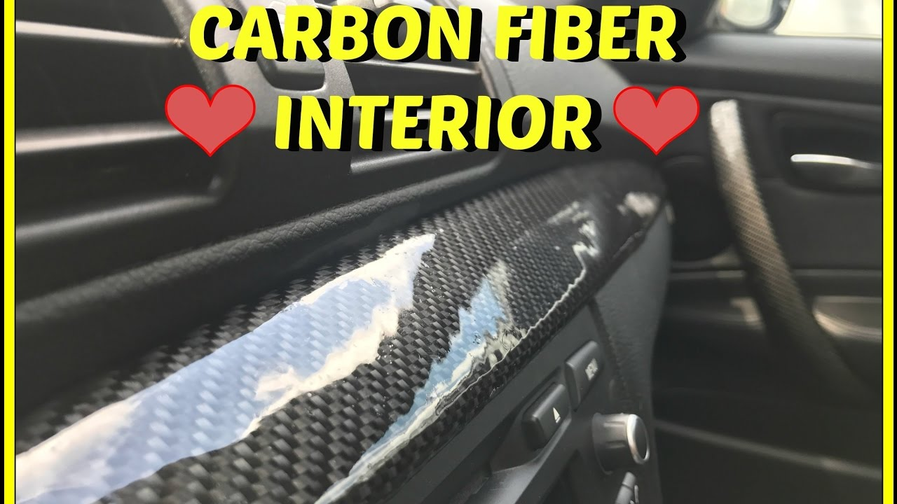How To Wrap Your Interior In Real Carbon Fiber Youtube